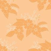 Fondo floral transparente — Vector de stock