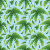Seamless background, palm leaves and sky — Vetor de Stock