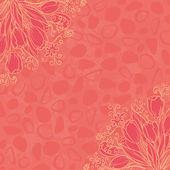 大纲鲜花的抽象背景 — 图库照片