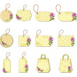 Royalty-Free Stock Photo: Set tags with floral pattern