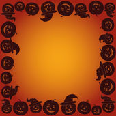 Background with Pumpkins Jack O Lantern — Stock Vector
