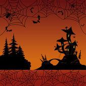 Vacanze paesaggio di halloween — Foto Stock
