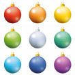Christmas decoration, set balls — Stock Photo