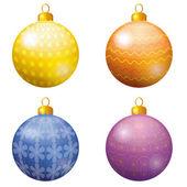 Christmas decoration, set balls — Stock Vector