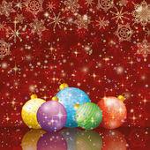 クリスマスの休日の背景 — ストックベクタ