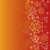 Abstract floral background — Cтоковый вектор
