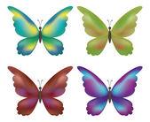 набор бабочки — Cтоковый вектор
