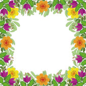 Background, frame of flowers — Stock Vector