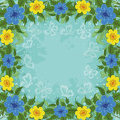 Arka plan, çiçekler ve kelebekler — Stok fotoğraf