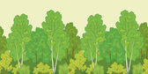 Seamless background, forest — Stock Vector