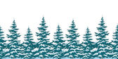 Seamless background, Christmas trees — Stock Photo