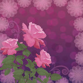 Holiday background with flower rose — Stock vektor