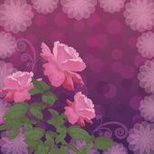 Dovolená pozadí s květem růže — Stock vektor