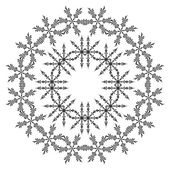 Pattern of snowflakes, contours — Stock Vector