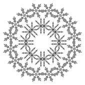 輪郭の雪片のパターン — ストックベクタ