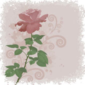 Holiday background with flower rose — Vettoriale Stock