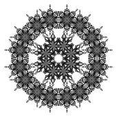 Pattern of snowflakes, contours — Stock Photo
