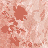 Holiday background with flower rose silhouette — ストックベクタ
