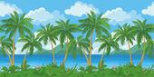 Exotic seamless tropical sea landscape — Stock Vector