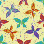 Seamless pattern, colorful butterflies — 图库照片