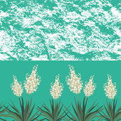 Seamless floral background, Yucca flowers — Vecteur