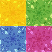 Set seamless floral backgrounds — Stock Vector