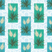 Seamless floral background, Yucca flowers — Stok Vektör