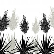 Flowers Yucca silhouette, horizontal seamless — Stock Photo #49116247