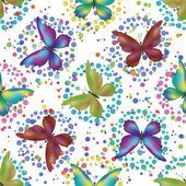 Bezszwowe tło, motyle — Zdjęcie stockowe