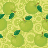 Seamless background, apples and rings — Stock Photo