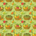 Seamless pattern, baskets and fruits — Stock Photo #49933477