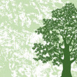 Oak tree silhouette on abstract background — Stock Photo #51149699