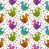 Seamless pattern, cartoon colorful Dragons — Stock fotografie