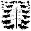 Christmas tree trunk and branches silhouettes — Stock Photo #51500265