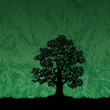 Oak tree silhouette on abstract background — Stock Photo #51500497