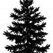 ������, ������: Christmas spruce fir tree silhouette