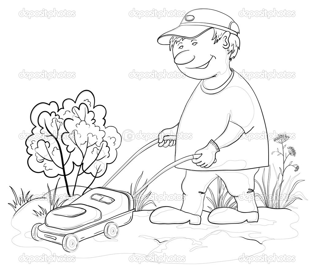 yard work coloring pages - photo#50