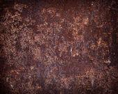Textura de ferrugem da parede do metal marrom escuro — Fotografia Stock