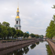 Cityscape with St. Nicholas Naval Cathedral in Saint-Petersburg — Stock Photo #12185749