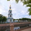 St. Nicholas Naval Cathedral in St.Petersburg — Stock Photo