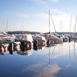 Royalty-Free Stock Photo: Small marina with yachts and motorboats