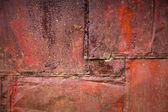 Rusted metal wall detailed grunge background texture — Stock Photo