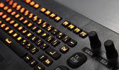 Фрагмент промышленных клавиатура с подсветкой — Стоковое фото