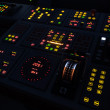 Illuminated ship control panel — Stock Photo