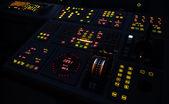 Illuminated ship control panel — Stock Photo