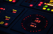 Fragment of illuminated ship control panel — Stock Photo