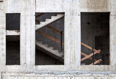 Concrete wall and staircase of modern building under construction — Stock Photo