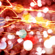 Stock Photo: Defocused abstract bright lights bokeh background