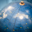Old star sky globe with Russian text - Stock Photo