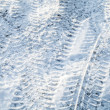 Background texture of snowbound urban road — Stock Photo